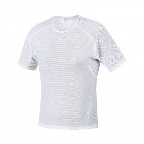GORE® BASE LAYER MAILLOT MANCHES COURTES HOMME | WHITE