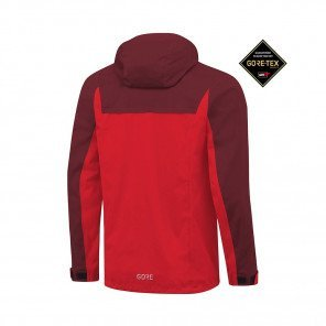 GORE® R3 GORE-TEX ACTIVE VESTE À CAPUCHE HOMME | RED/CHESTNUT RED