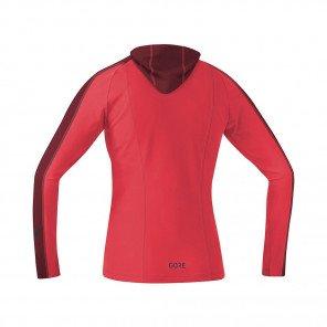 GORE® R3 MAILLOT À CAPUCHE FEMME   HIBISCUS PINK/CHESTNUT RED